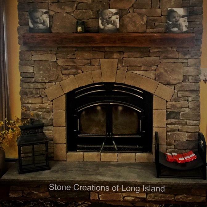 Fireplace Remodel w/ Recliamed Mantle, Westbury, N.Y 11590