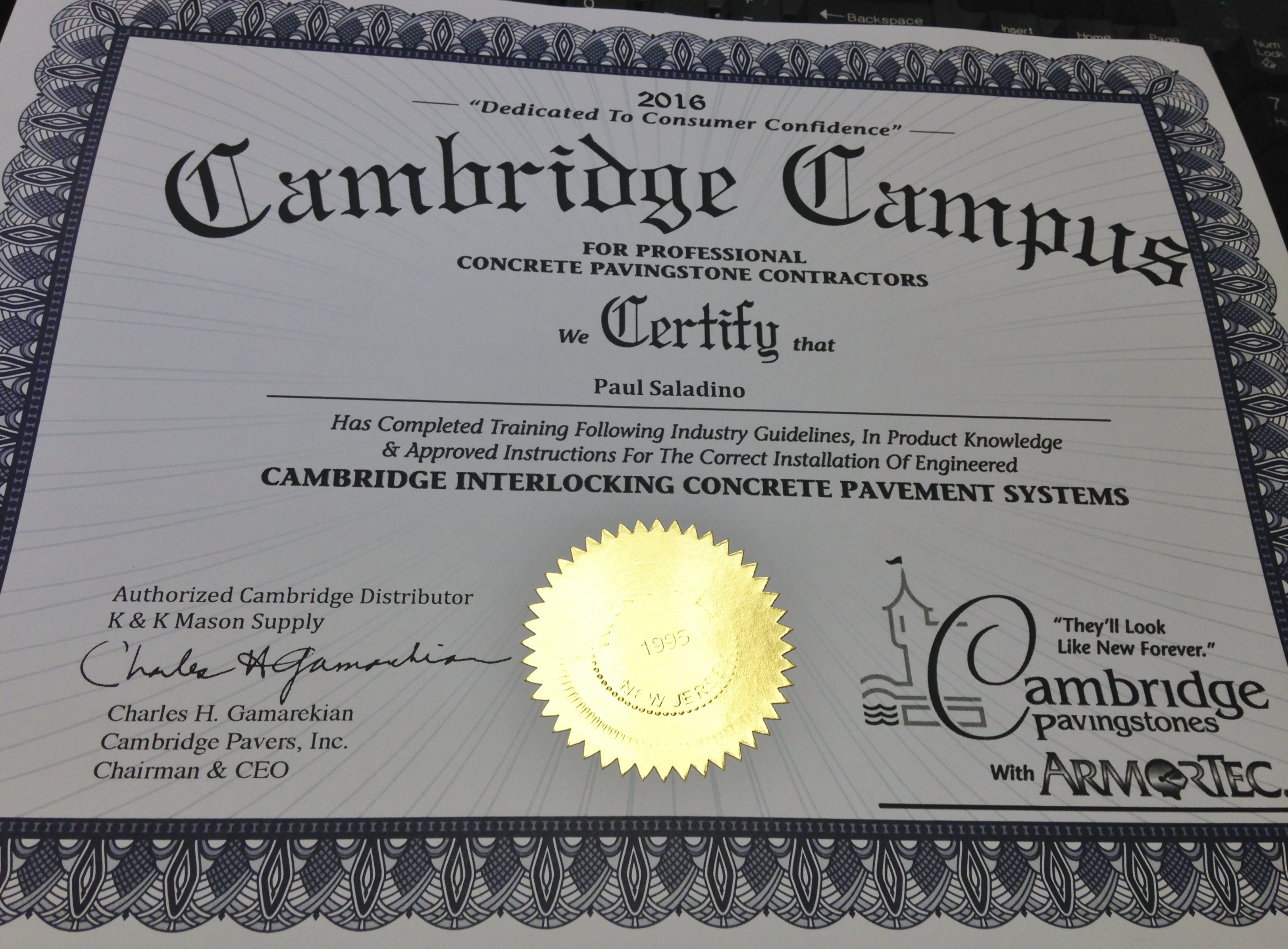 Cambridge Paver Certified