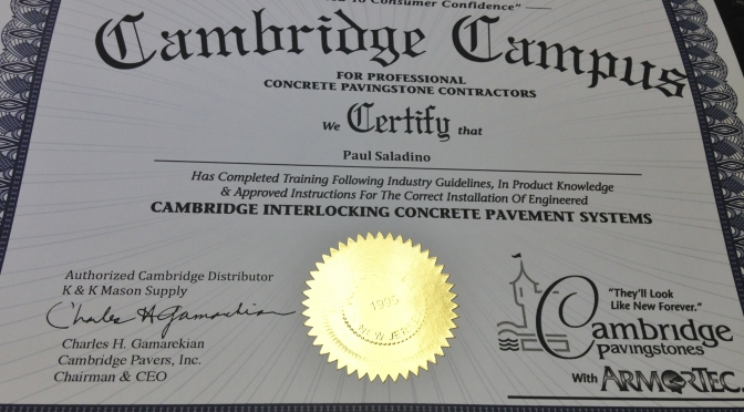 Cambridge Pavers Certified Installers