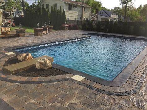 Cambridge Paver Pool Patio, West Islip, NY 11795