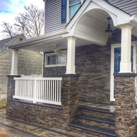 Front Porch with Stone Veneer - Lindenhurst, NY 11757
