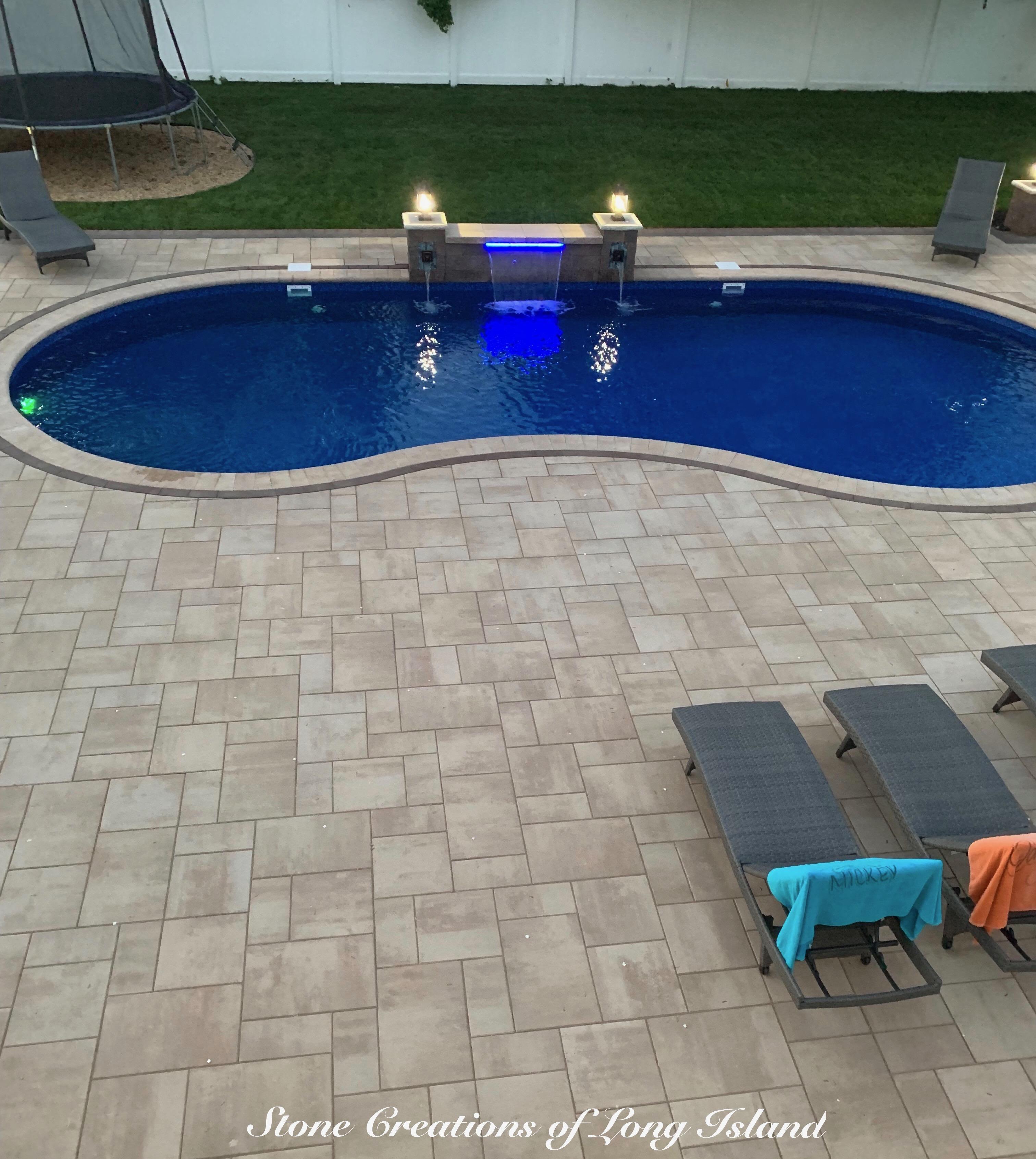 West Islip Cambridge Paver Pool Resort