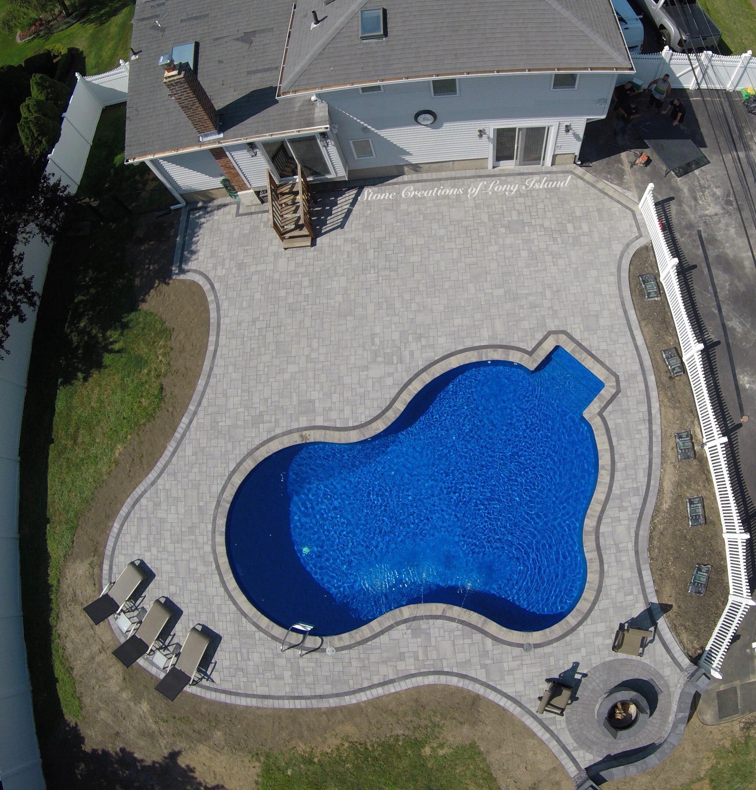 Cambridge Paver Pool Patio - East Islip, NY 11730