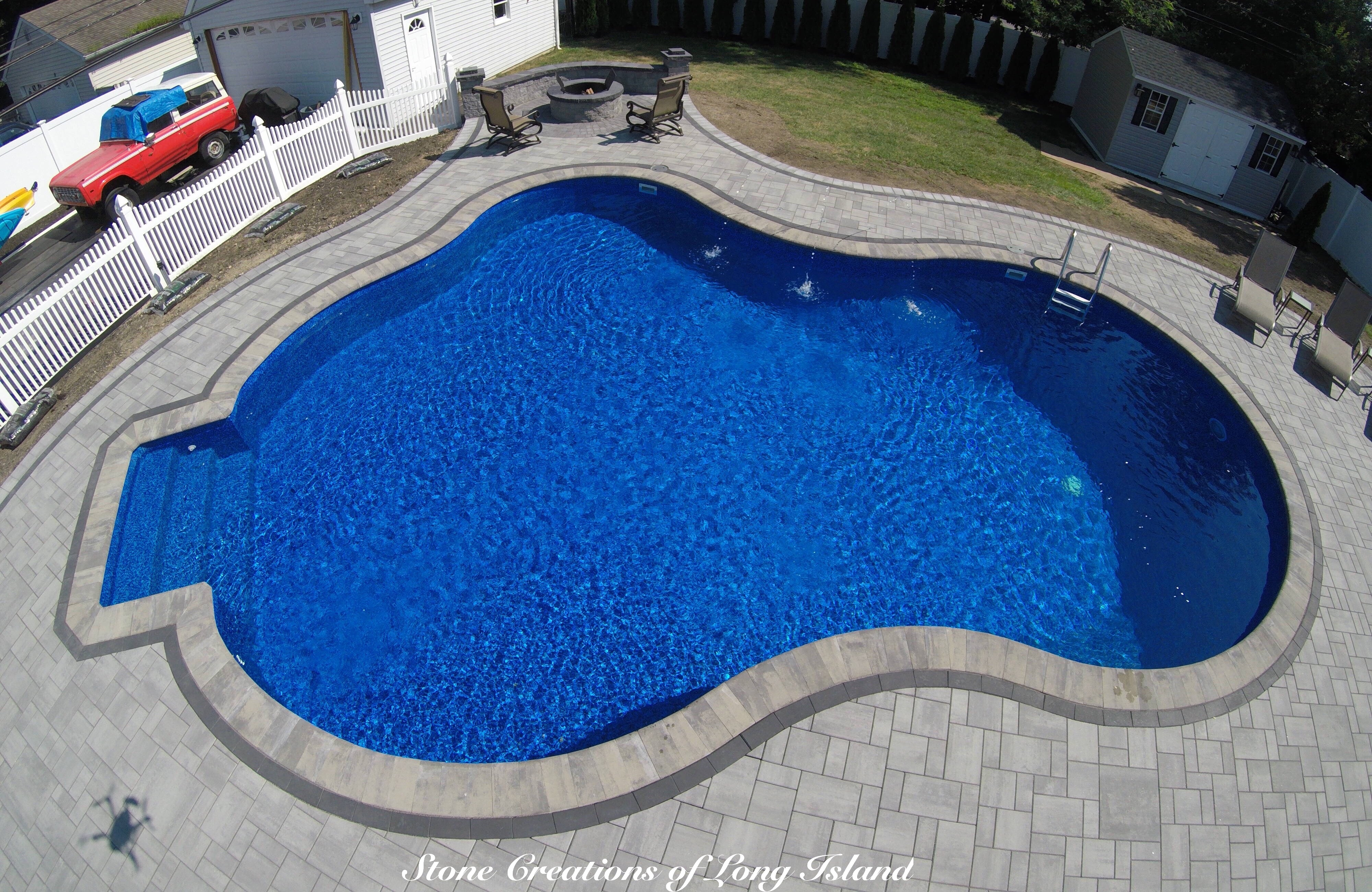 Cambridge Paver Pool Patio - East Islip, NY 11730